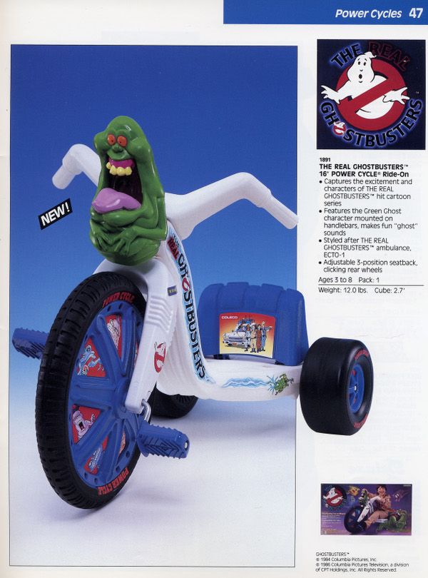 ghostbusters power cycle coleco